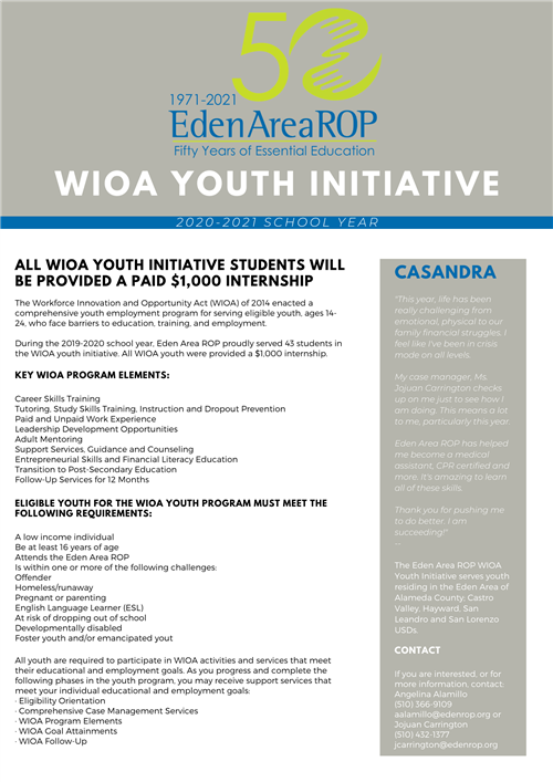 WIOA Youth Initiative