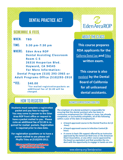 Dental Practice Act
