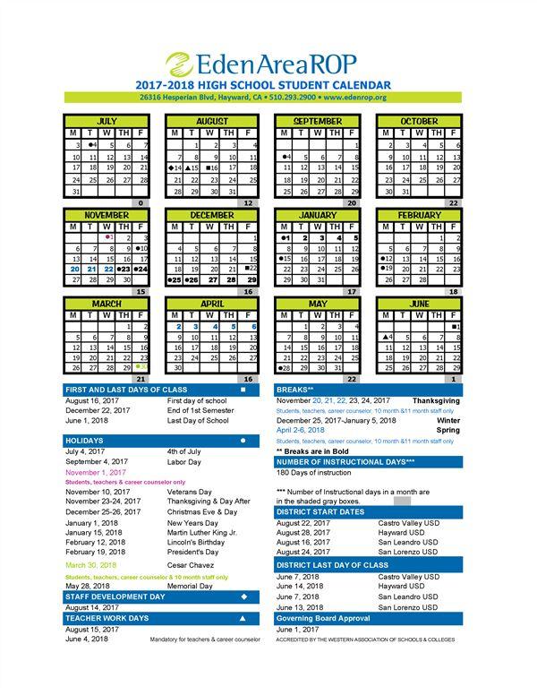 School Calendar  Home